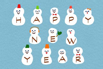 雪だるま,年賀状,無料,公開,ダウンロード,かわいい,フリー素材
